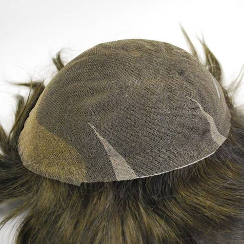 Hair replacement Swiss lace #3 Dark brown Hairpiece Mens toupee