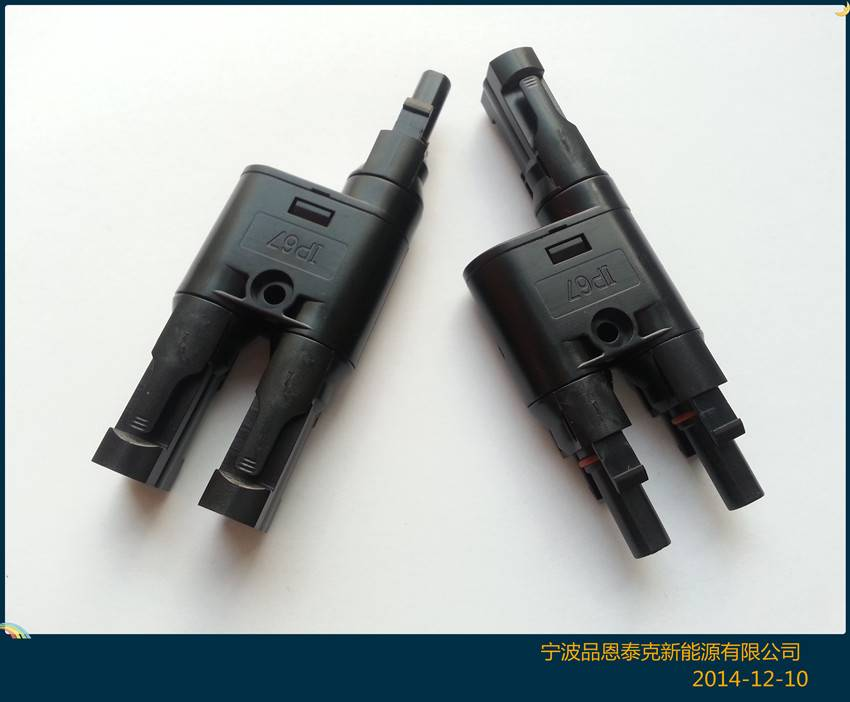 Mc4 Branch Connector Tuv Certified Pv Solar Connector