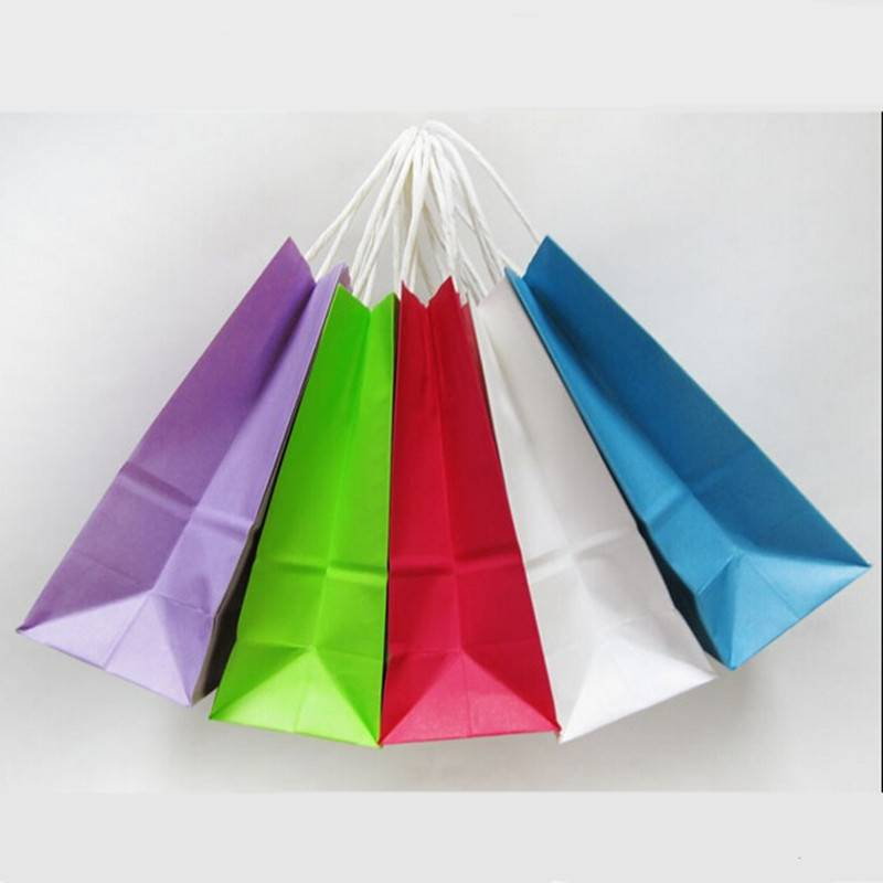 Eco-friendly custom logo gift paper bag