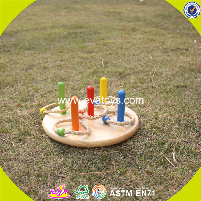 2017 new products educational kids wooden ring toss toy W01A159