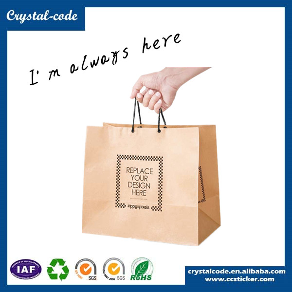 Attractive and durable craft paper bag,custom paper bag