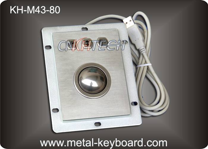 KH-M43-80 IP65 Kiosk Trackball Pointing Device with 43MM Stainless Steel Trackball
