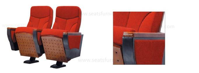 Elegant fixed single leg auditorium seats for conference hall