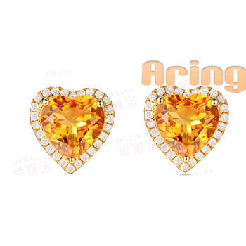 Wholesale 18k Gold Jewelry Citrine earrings