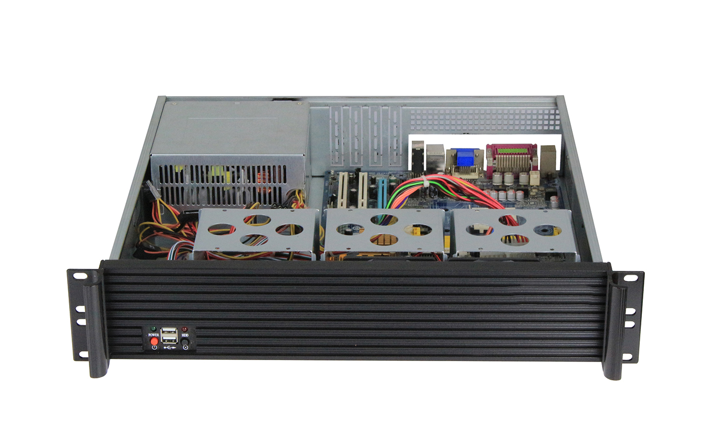 """2U Server Case Chassis Computer Cases Support Motherboard Size Up To 12""""9.6"""",And 63.5""""HDD Bays"""