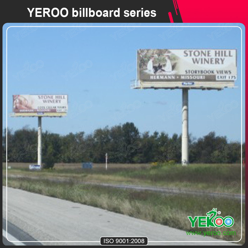 Q235 Highway Billboard Manufacture/Advertising Stand Display