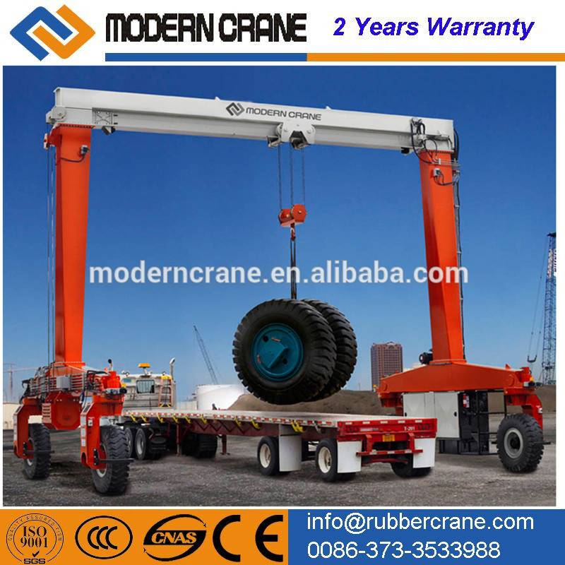CE Certificated Heavy Duty Rubber Tyre Gantry Crane