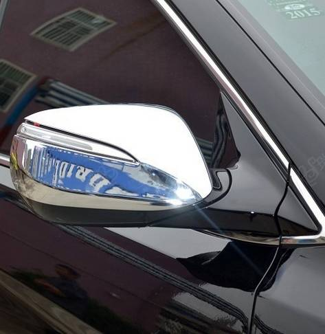 HY1552-Chrome Mirror Cover Without Light For Hyundai Santafe IX45 13