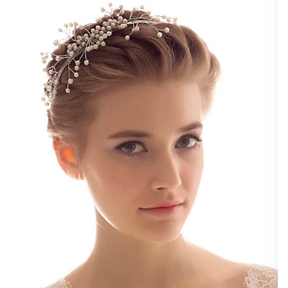 European brands wedding tiara hair hoop gentle elegant bride pearl headdress