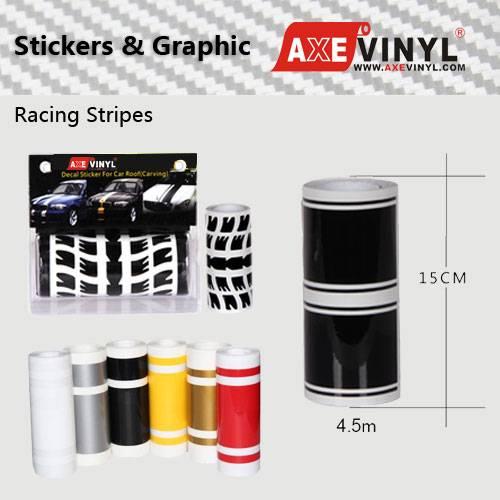 Axevinyl Factory Direct Sale Premium Quality Hood Sticker Mustang Stripe Racing Stripe