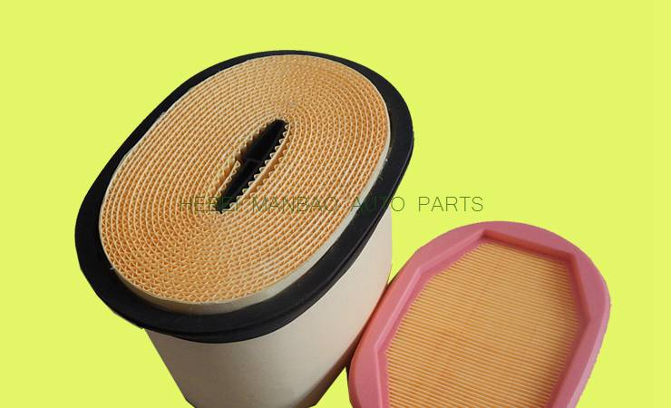Customize  air filter  OE number (2277448 p608766 ) for volvo