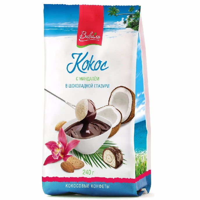 Candy Coconut Almond Chocolate Russia VIVAL