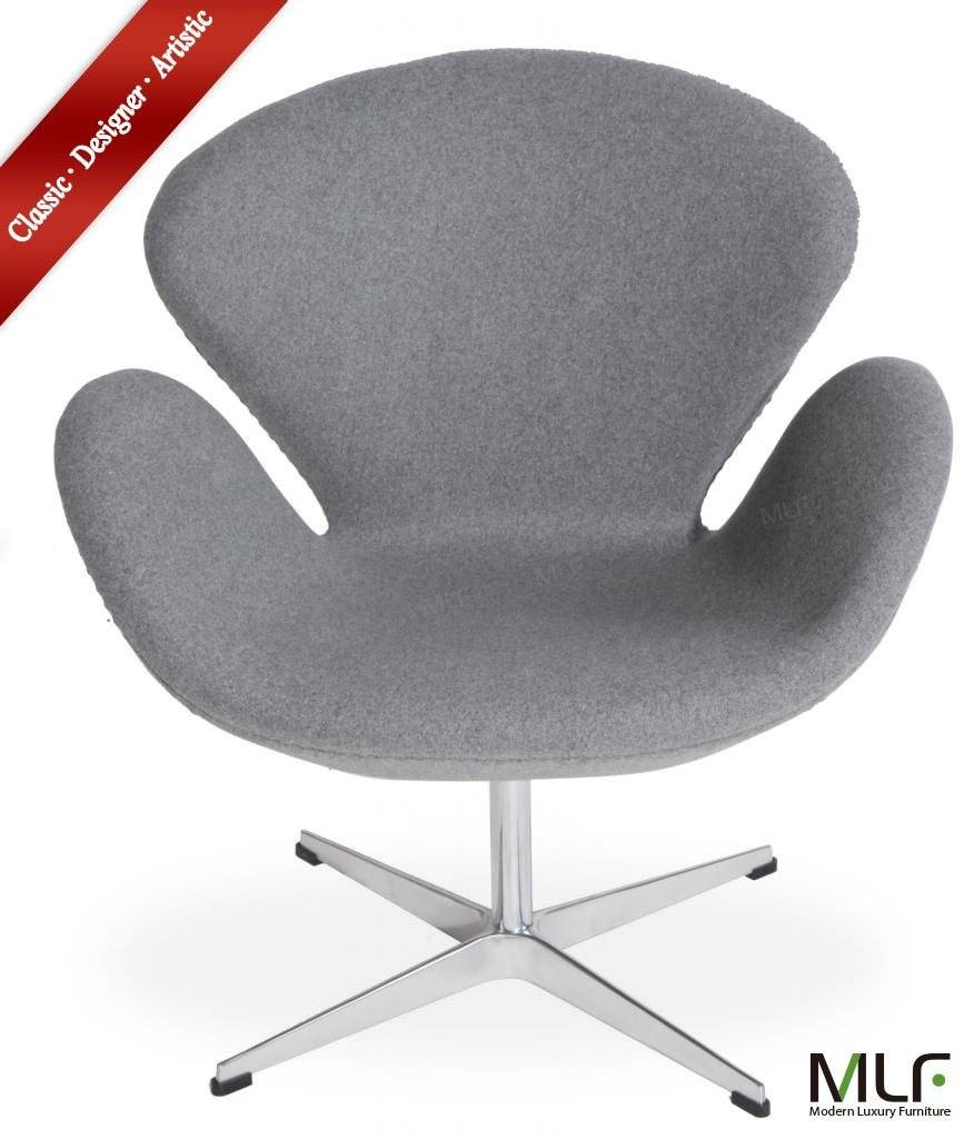 MLF® Grey 100% Reproduction of Arne Jacobsen Swan Chair
