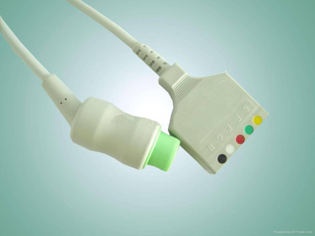 Siemens One Piece 5-Lead ECG Cable(EKG cable) with Leadwires