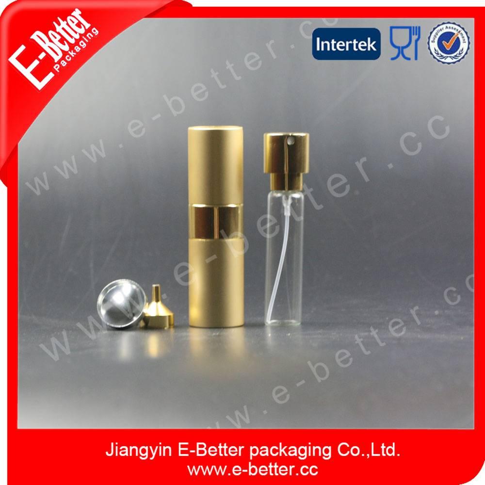 high quality aluminium empty glass perfume atomizer