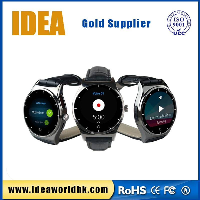 Round face smartwatch with heartrate sensor