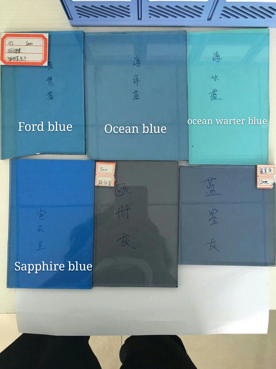 3~12mm Colored Float Glass (Bronze, Green, Blue, Grey Etc.)