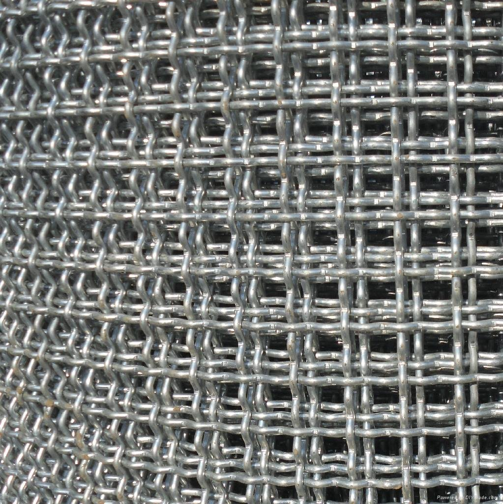 Opening Woven Crimped Square Wire Mesh