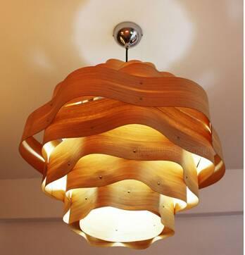 2015 wooden restaurant pendant light P1010-60