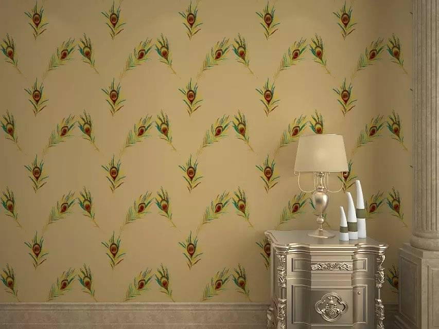 3D Effect Gold Foil Wallpaper with Good Breathability
