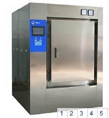 pulse vacuum Autoclave Sterilizer/Double Door Steam Sterilizer
