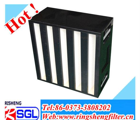 V-type pleated air purifier