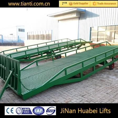 Mobile loading helping car dock ramp