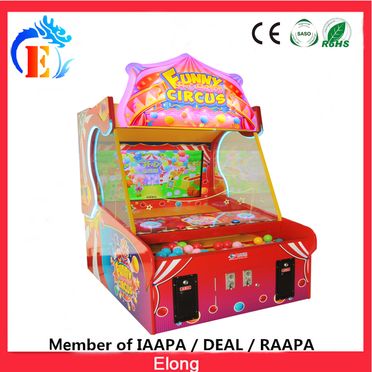 Elong high quality Double Circus arcade game machine, coin operated arcade redemption game