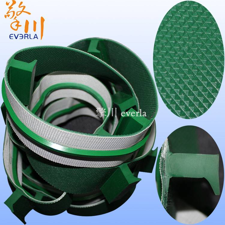 Green diamond stone belt plus Z block block bottom and oriented PVC conveyor belt