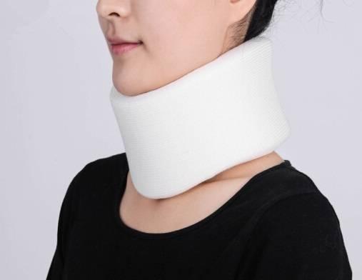 Neck Brace adjustable comfortable adjustable immobilizer soft foam white adjustable cervical collar