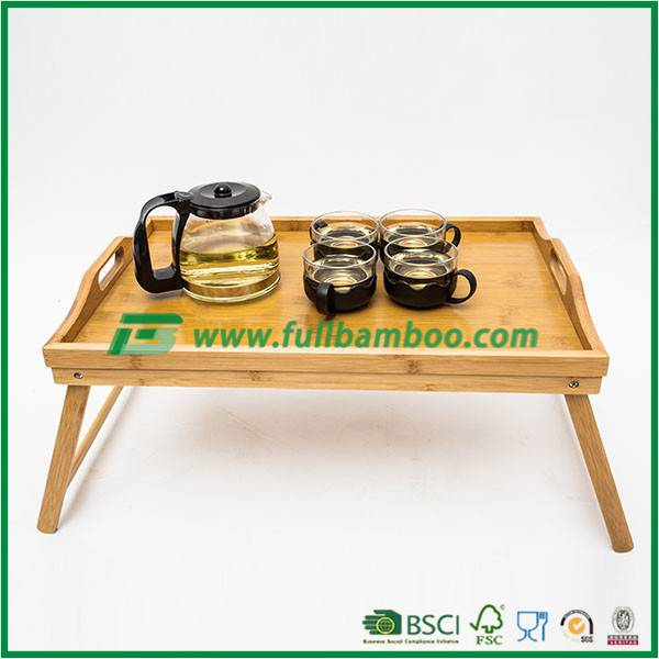 Bamboo Bed Tray,bamboo Bed Food Serving Tray, bamboo Bed Breakfast Serving Tray