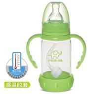 120ml standard straight glassfeeding bottle (discoloring silicone case)
