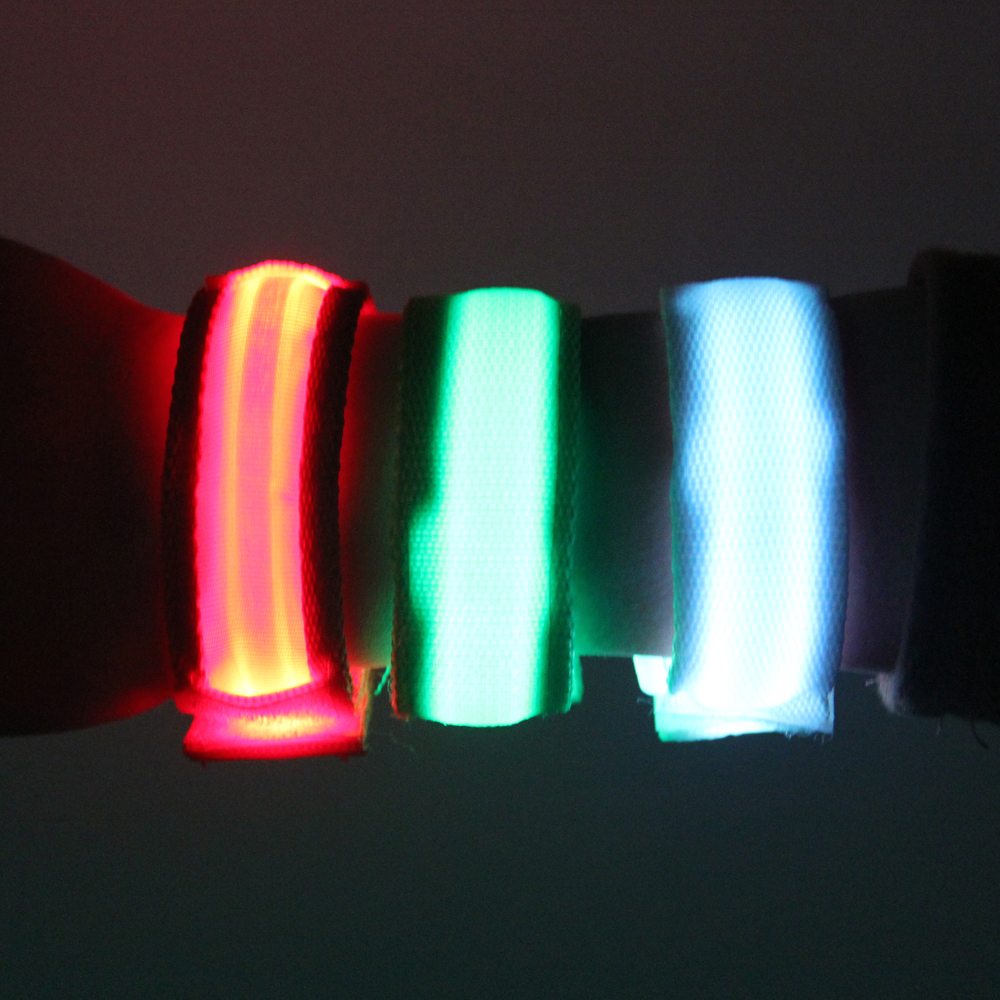 Sports LED Flashing Ribbon Wrist Band for Outdoor Sports Glowing Ribbon Wrist Bands