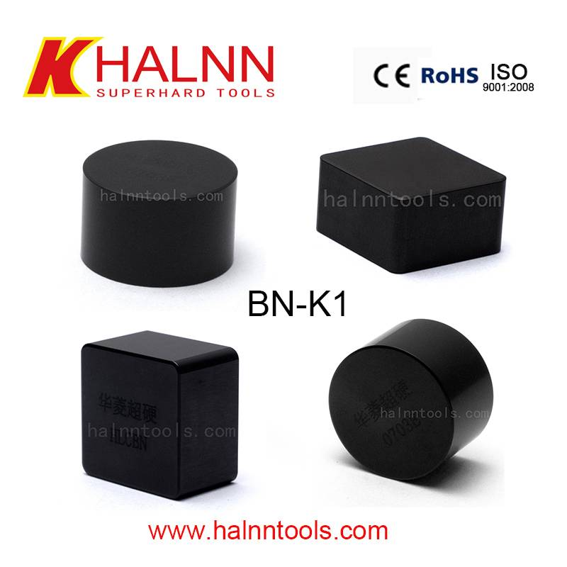 Halnn BN-K1 grade CBN inserts for machining alloy cast iron rolls/roller