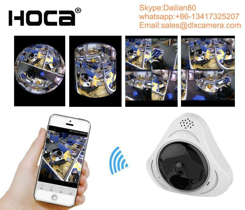 Indoor 360° 3D Panoramic VR P2P Wireless IP camera