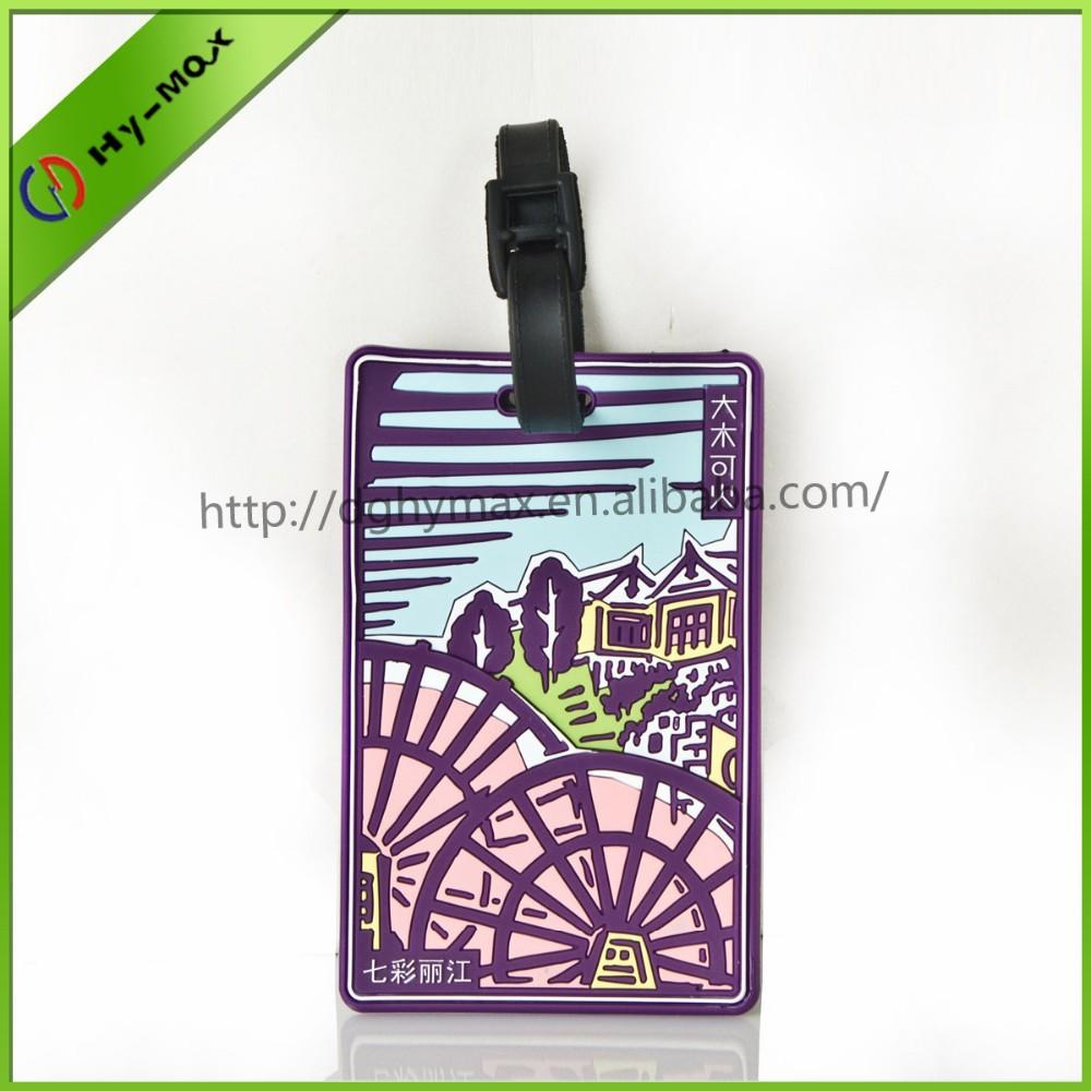 Promotion travel case tags custom handbag tag