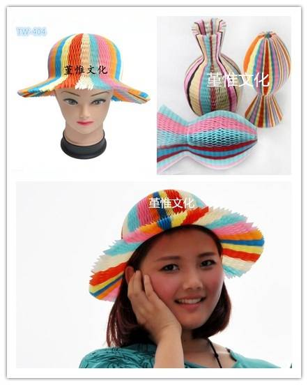 Party Supply Wholesale Fun and Magic Multi Color Paper Hat for children and women