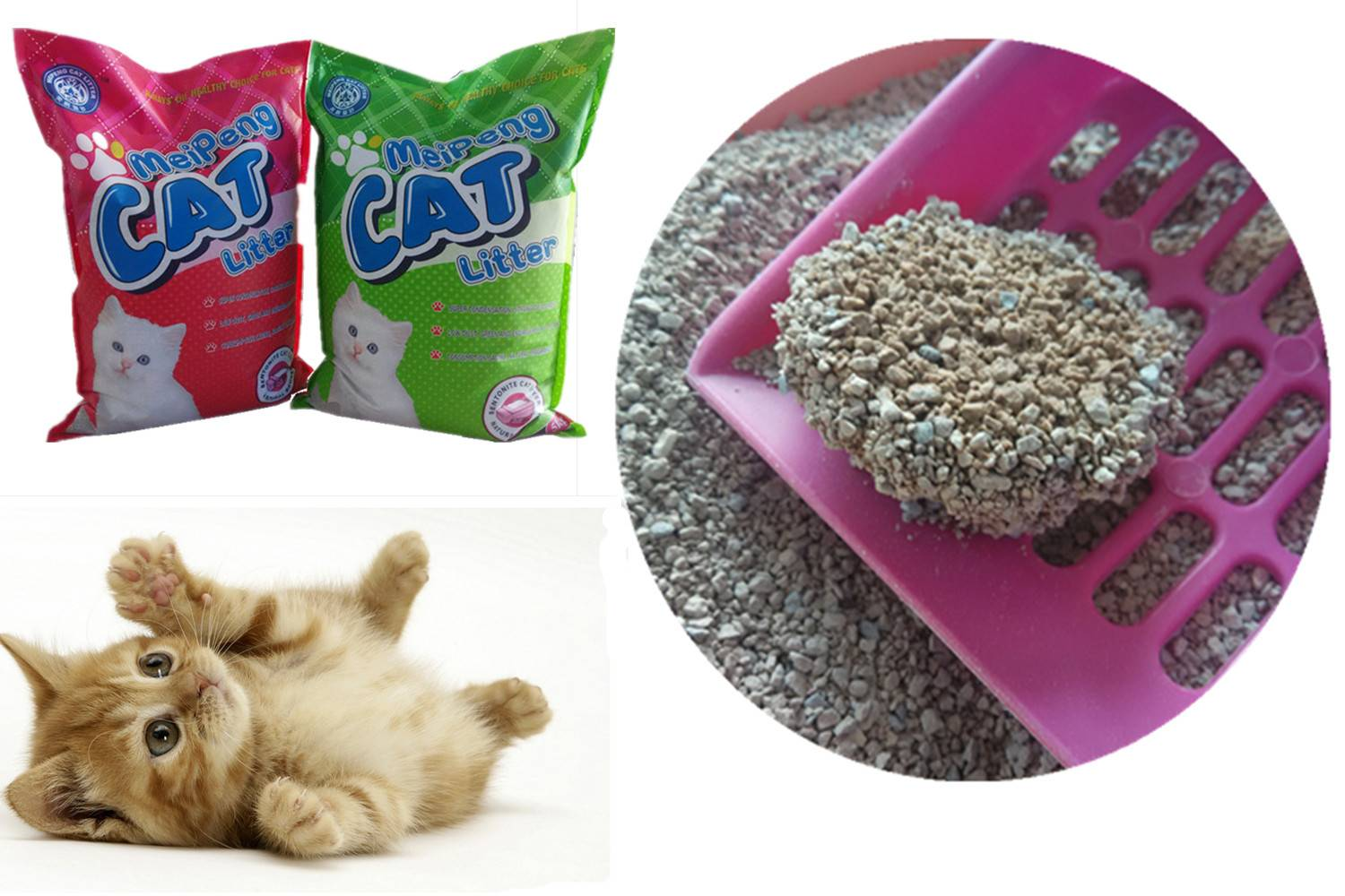 factory supply Clumping cat litter ( Cat sand)