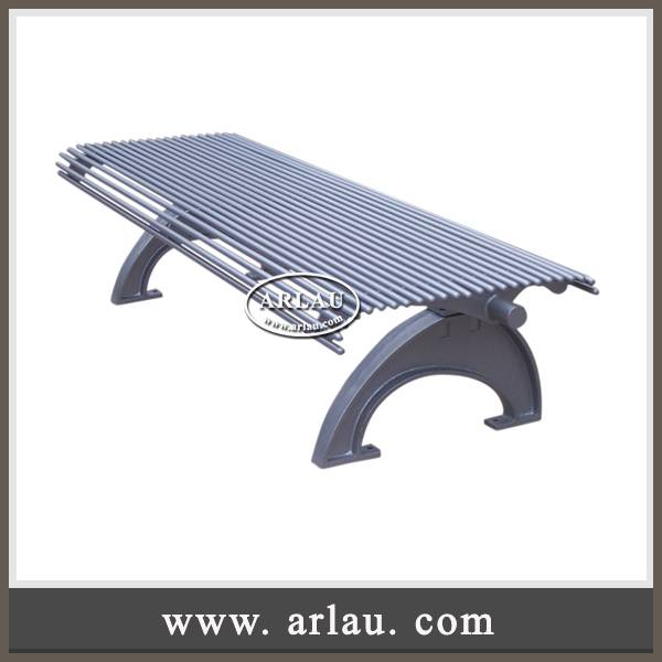 Arlau Outdoor Metal Furniture,Steel Park Bench For Sale,Metal Backless Park Bench
