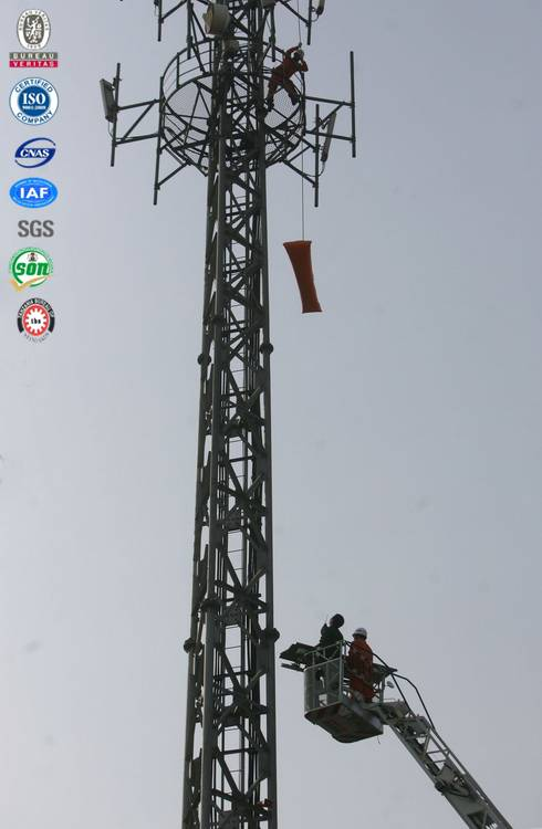 steel wire supporting radio gsm communication 3 legged steel tower