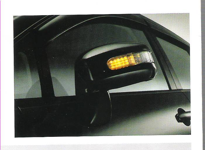 DOOR MIRROR COVER WITH LED -- Nissan Tiida and Latio