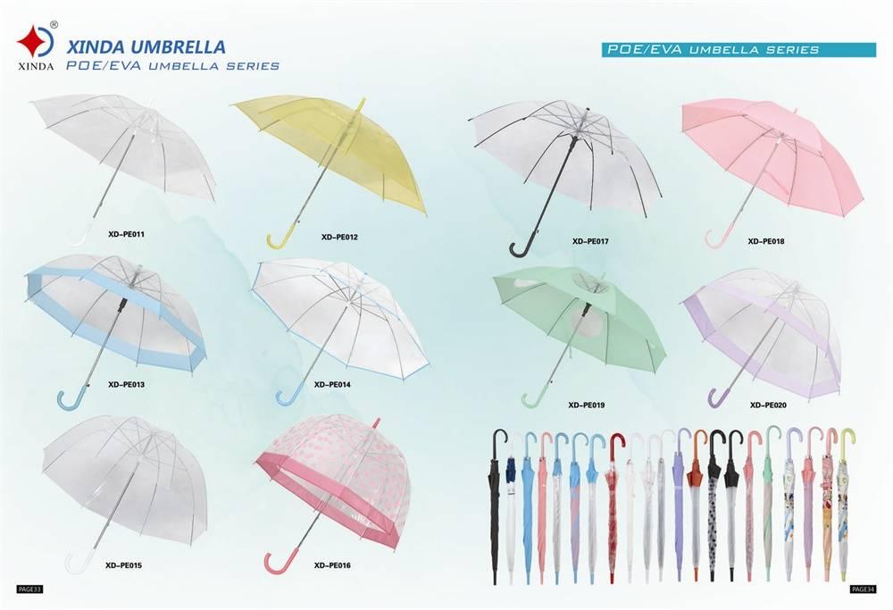 Apollo Shaped POE Transparent Umbrella for Promotional XD-VU001