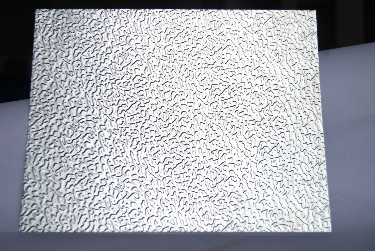 Orange peel embossed aluminum sheet