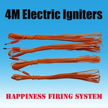 FedEX/DHL Free shipping + 500pcs/lot + 4M electric igniter + with pyrogen + fireworks electric ignit