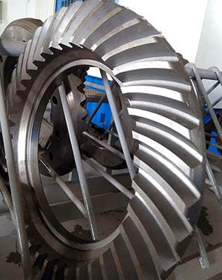 1500mm diameter of Three Gorges Dam ship lift spiral bevel gear presentation