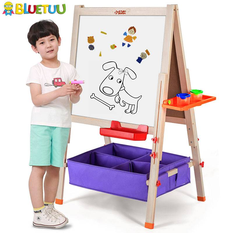 With easel sketch mobile double sided whiteboard with stand for girls and boys