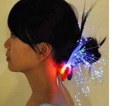 christmas toy LED hair ornament with decorative