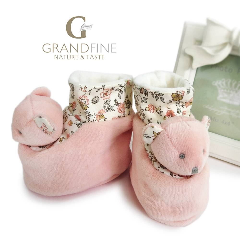 100% handmade baby bear velvet booties dolls in bulk with EN71 test report and CE mark and Reach doc