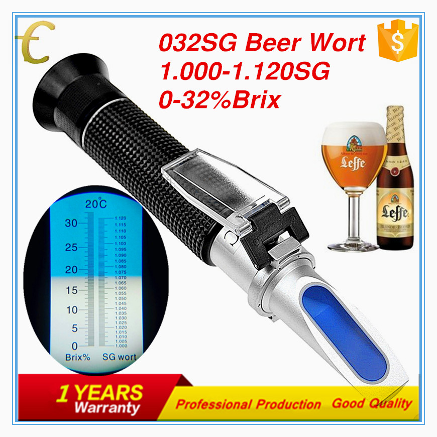 0-32% brix and 1.000-1.120SG swort refractometer for beer testing