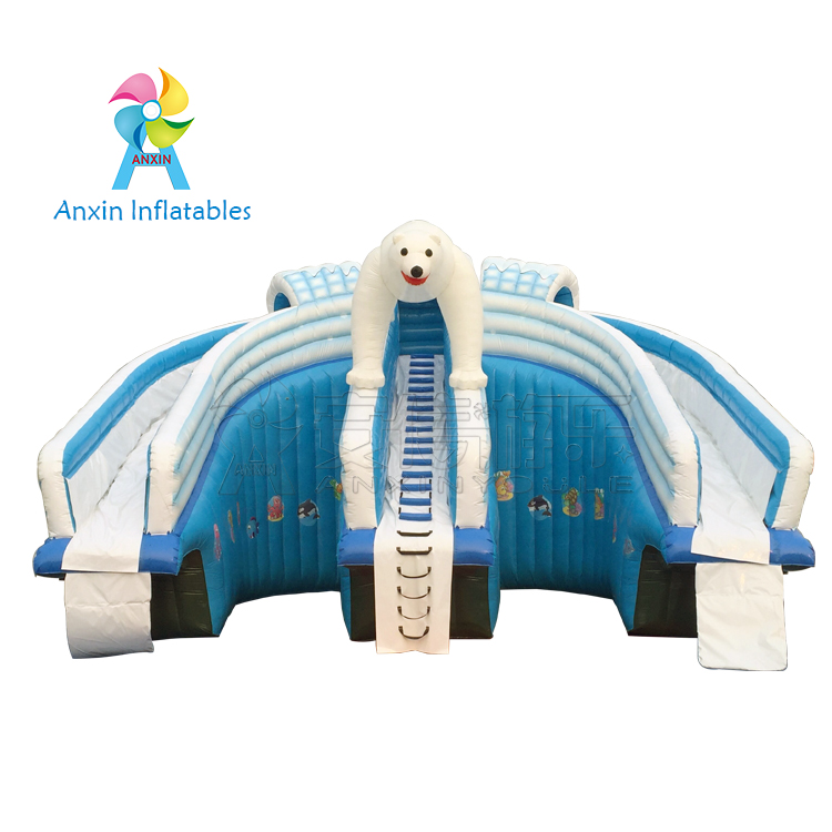 2018 hot-sale white bear Inflatable Water Slides from ANXIN Amusement